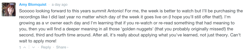 Amy's Comment