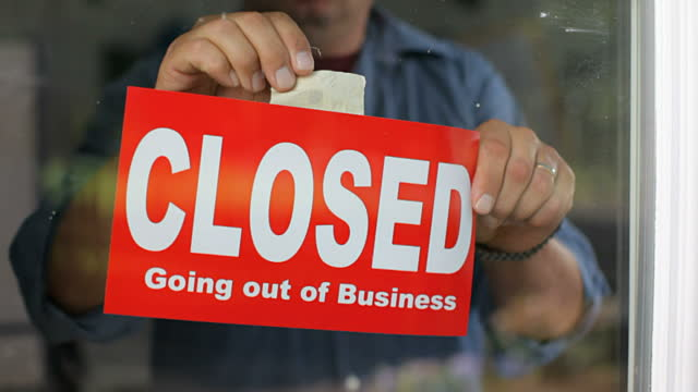 Going Out Of Business Closed Sign